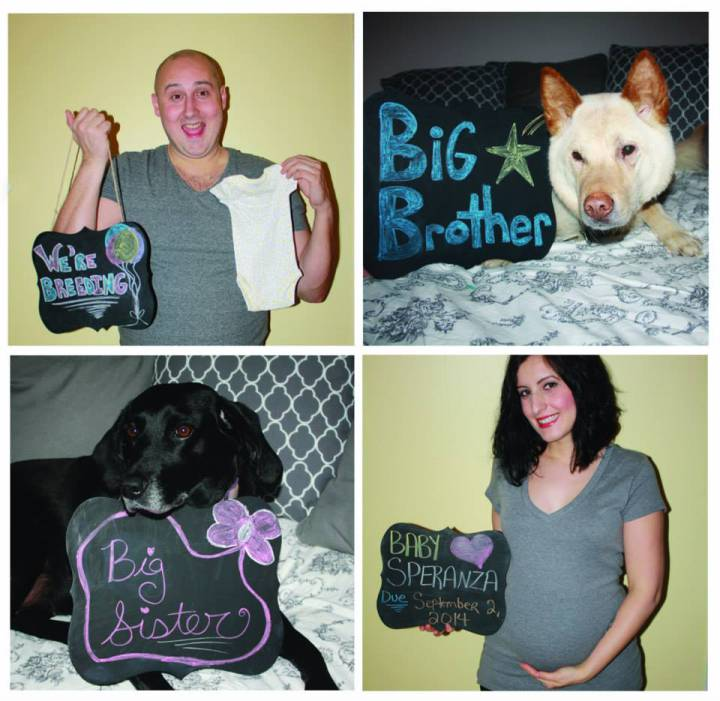 pregnancy announcement | chipped polish and patty cake
